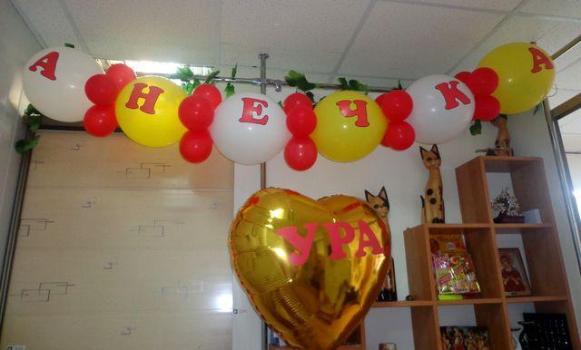 Украшение офиса на день рождения
